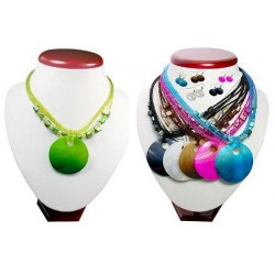 Shell Pendant Necklace & Earring Set