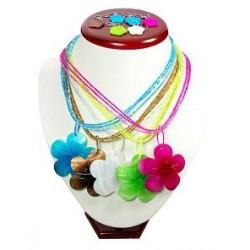 Flower Shell Necklace &Earring Set.