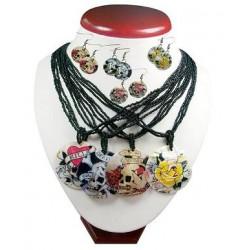 Skull Shell Necklace Set