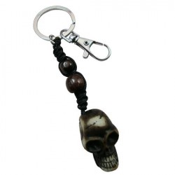 Resin Skull Pendant Key Chain