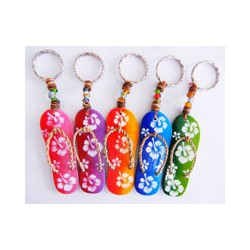 Hibiscus Flower Sandal Key Chain