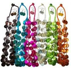 Capiz Shell Necklace & Earring Set