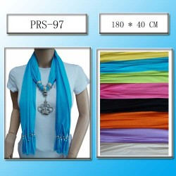 Crystal Crown Pendant Fashion Scarf