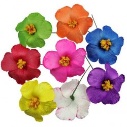 Solid Hibiscus Flower Hair Sticks