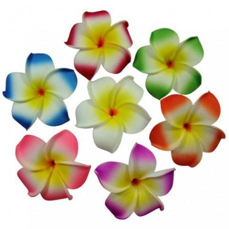 Plumeria Flower Clip - White