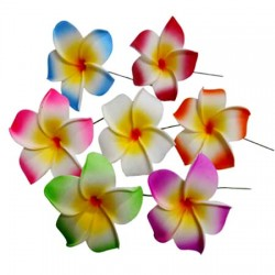 Plumeria Fimo Flower Hair Stick