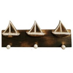 Wooden Sail Boat Coat Hanger