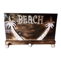 Wooden Beach Palm Tree Coat Hanger