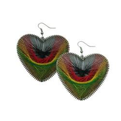 Rasta Heart Earring