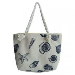 Shell Print Fashion Beach Bag