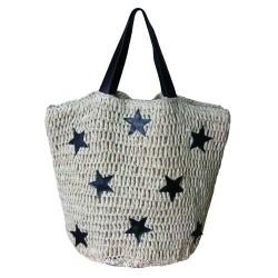 Star Print Beach Bag