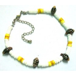 Yellow Clam Shell Anklet