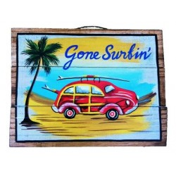 "Gone Surfing"" Wooden Sign"""
