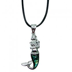 Mermaid Paua Shell Pendant Necklace