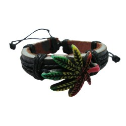 Rasta Leaf Bracelet