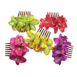 Orchid Flower Hair Comb