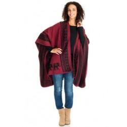 Elephant Motif Blanket Poncho