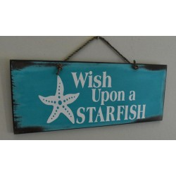 """Wish Upon A Star Fish"" Wooden Sign Home Decor"