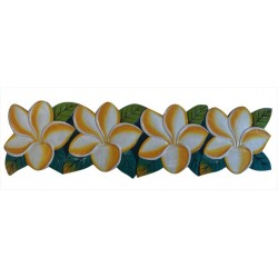 Plumeria Flower Wooden Sign