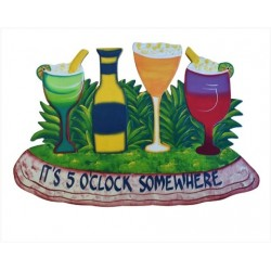 """Beer O'Clock"" Wooden Sign Home Decor"