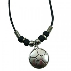 Metal Soccer Ball Pendant Necklace