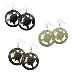 Coconut Shell Turtle Earrings