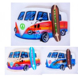 Beach Bus With Surfboard Wall Decor