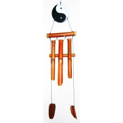 Yin Yang With Bamboo Wind Chime