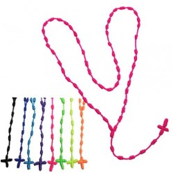 Neon Rosary Necklace
