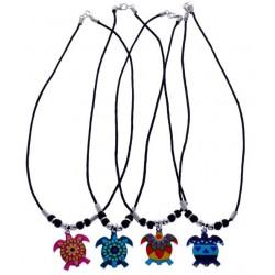 Aztec Turtle Pendant Necklace