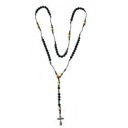 Rasta Rosary Necklace