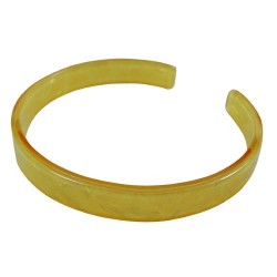 Yellow Faux Turtle Bangle