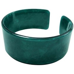 Green Faux Turtle Bangle