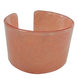 Peach Faux Turtle Shell Bangle