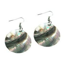 Black Mother of Pearl Shell Earrings