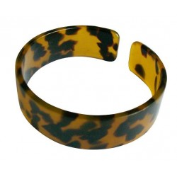 Brown Faux Turtle Shell Bangle