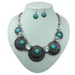 Turquiose Pendant Necklace & Earring Set