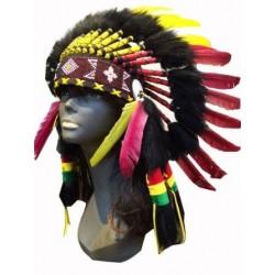Rasta Native American Head Dress