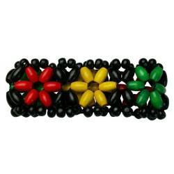 Wooden Rasta Elastic Bracelet