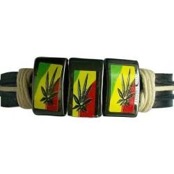 Hematite Leather Bracelet
