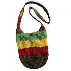 Brown Rasta Straw Bag