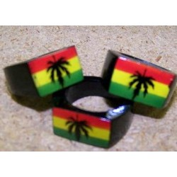 Wooden Rasta Leaf Rings