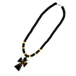 Rasta Coconut Necklace (20 inch)