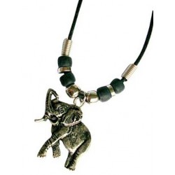Metal Elephant Pendant Necklace