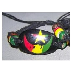 Rasta Moon & Star Bracelet