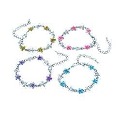 Plumeria & Turtle Pendant Bracelet