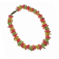Neon Colors Rose Clam Shell Anklet