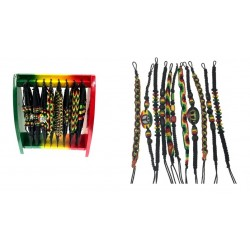 Rasta Bracelets & Display Rack