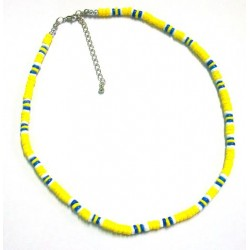Yellow & Blue Shell Anklet