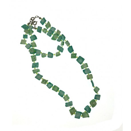 Green Shell Necklace & Bracelet Set